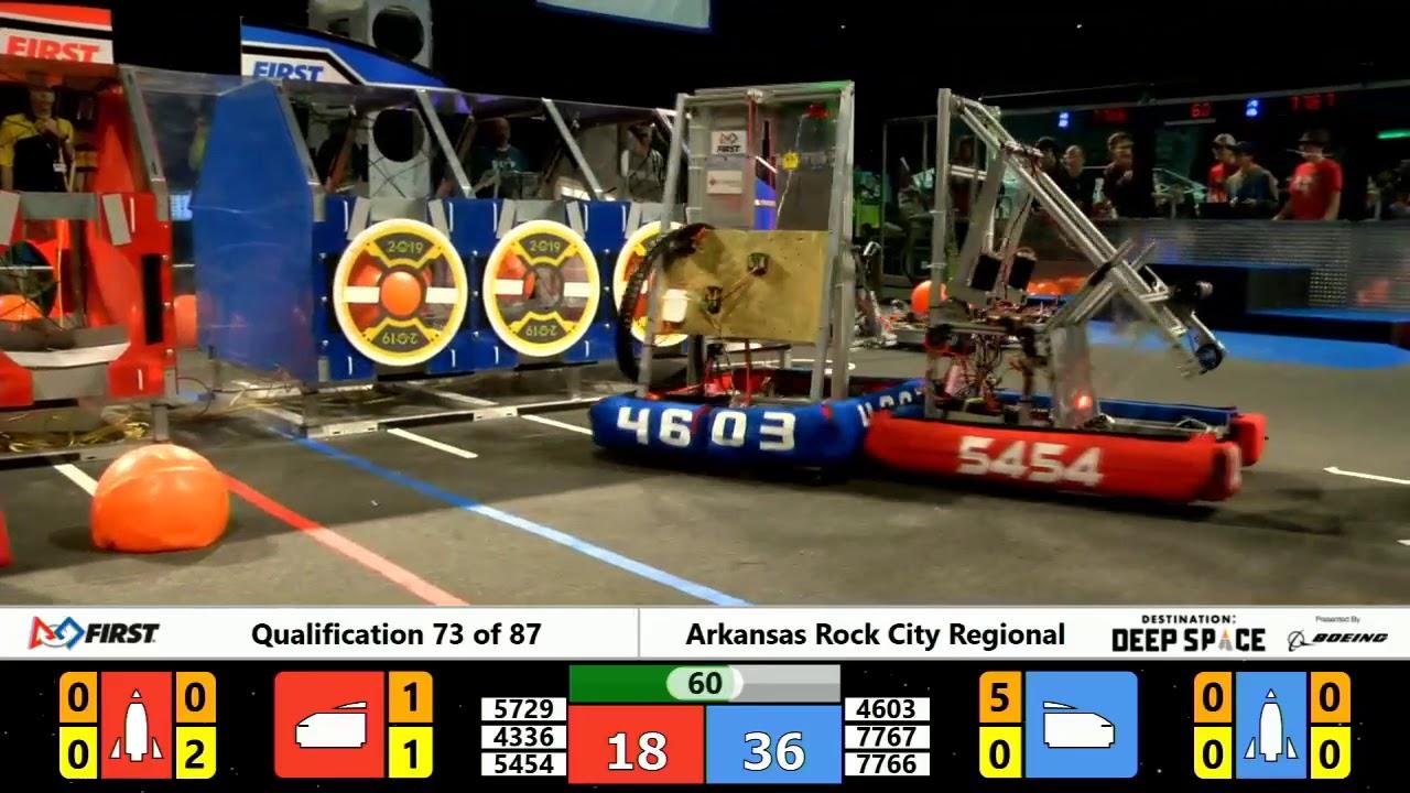 Qualification 73 – 2019 Arkansas Rock City Regional – Youth Robotics TV