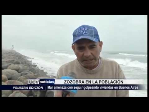 Víctor Larco: Mar sigue golpeando viviendas en Buenos Aires