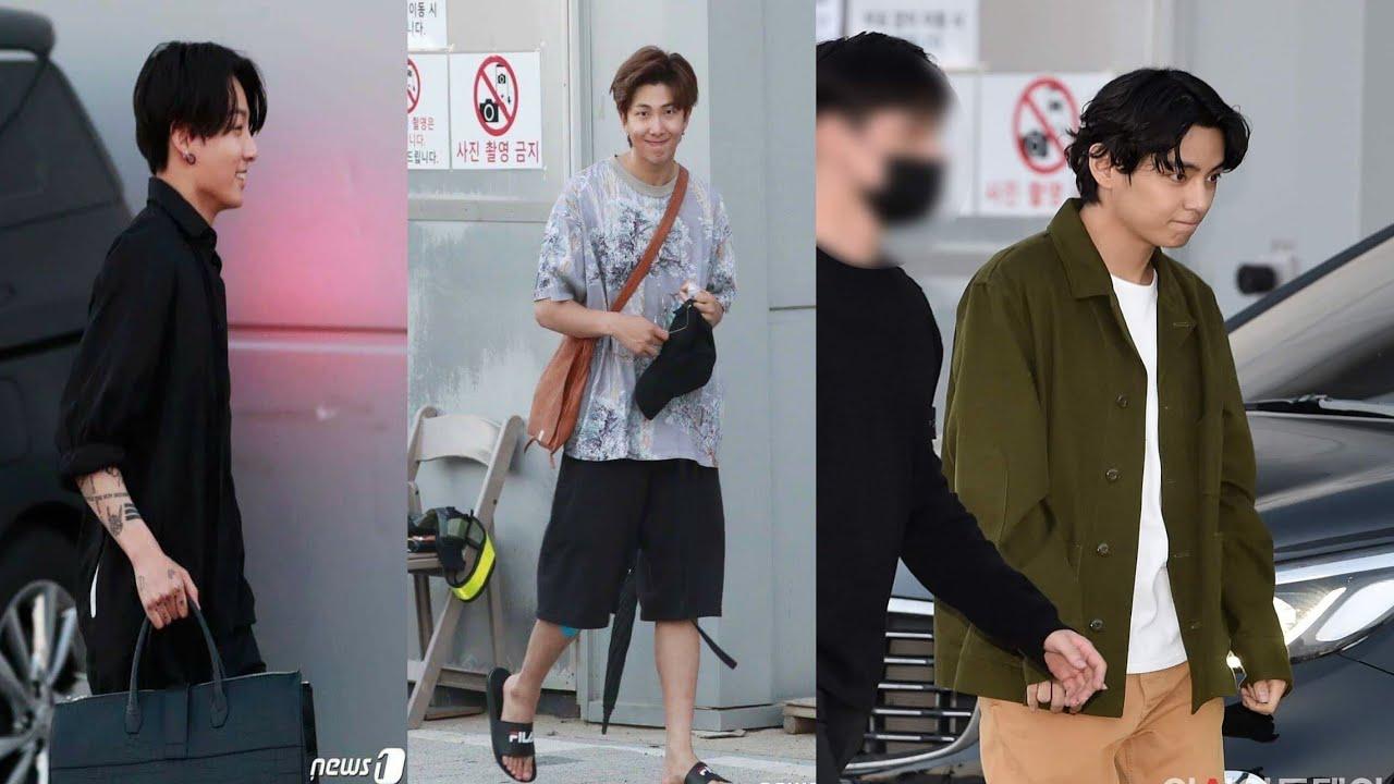 مغادرة أعضاء BTS بعد انتهاء الحفل bang bang con