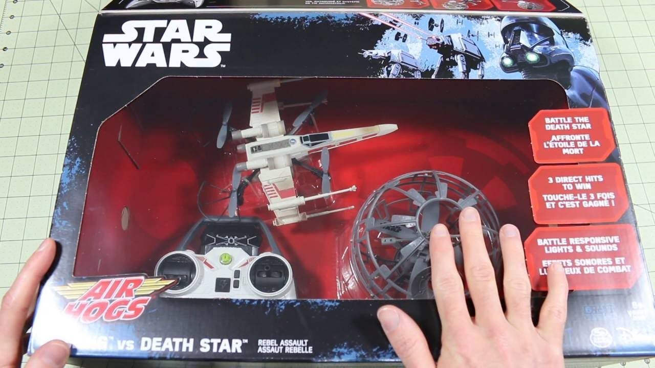 Air Hogs Star Wars X Wing Vs Death Star Drone Combat Rebel