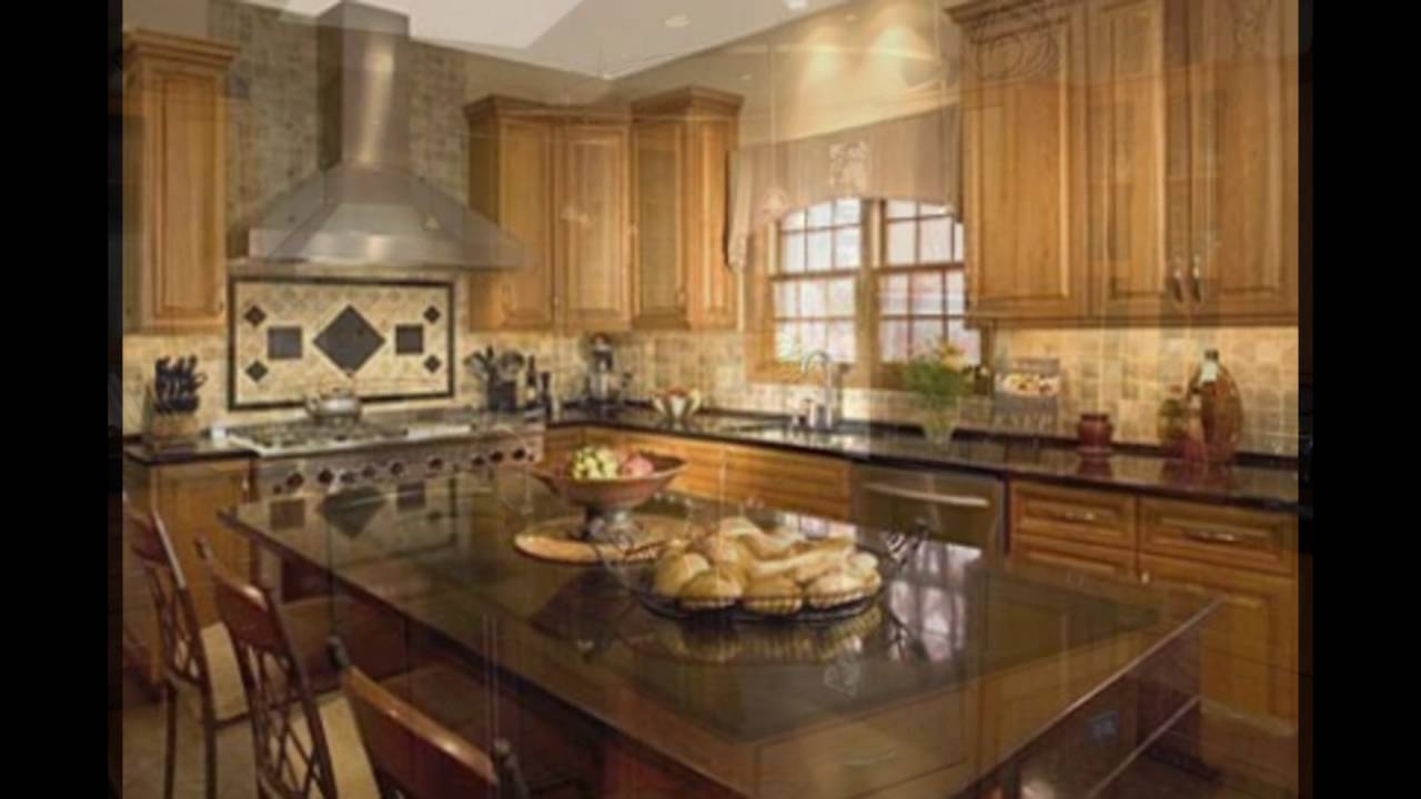 Granite Backsplash Ideas Part - 26: Backsplash Ideas For Black Granite Countertops And Maple Cabinets