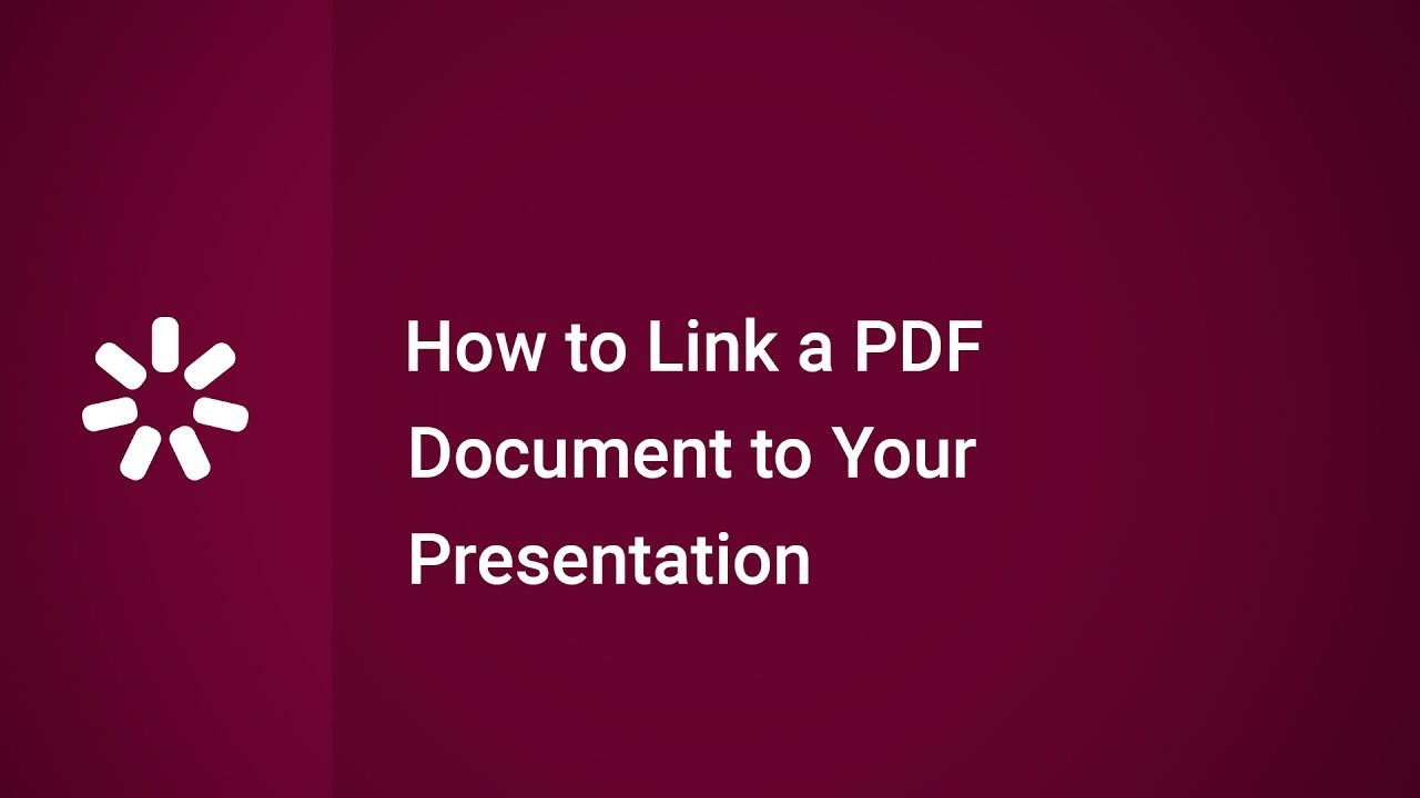 how to link a pdf document to your presentation - youtube, Powerpoint templates