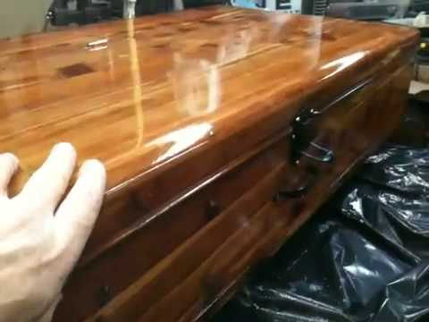 Restored 100 Year Old Cedar Chest   YouTube