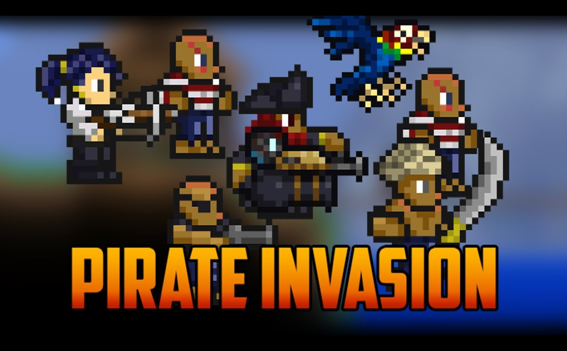 Video - Terraria - Pirate Invasion and Pirate NPC | Terraria