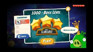 Angry Birds 2 - bonus LEVEL 1000 with 3 bosses