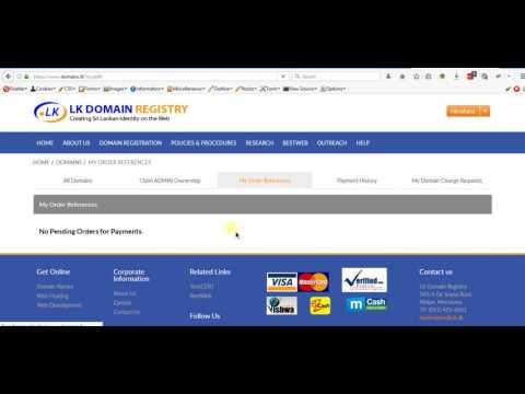 LK Domain Registry - Admin Panel Domain payable issue