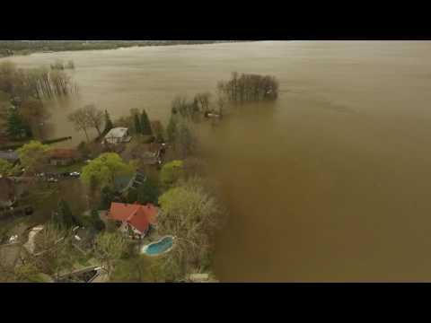 Flood in Vaudreuil-Dorion, QC from a DRONE (May 7, 2017)