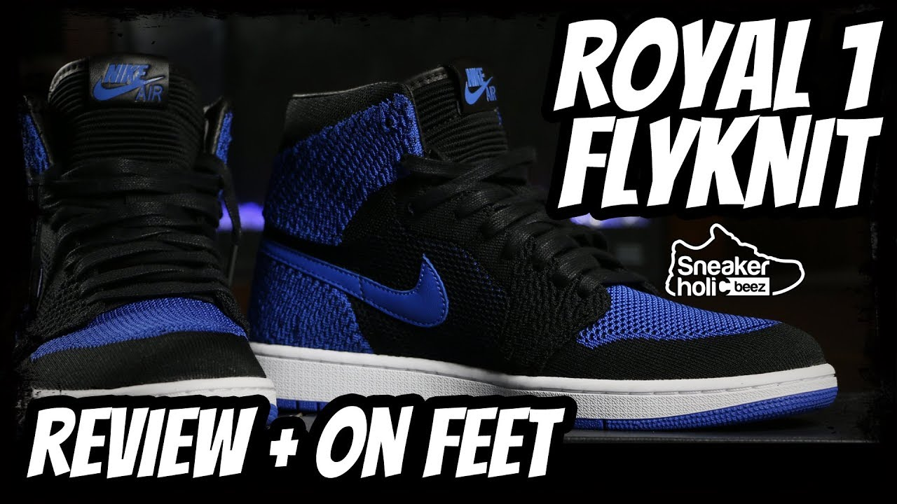 e6bb960108f812 RETRO JORDAN 1 ROYAL FLYKNIT REVIEW AND ON FEET - YouTube