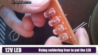 DIY: Tutorial hoe te te maken 12V LEIDENE Lichte Zonder Weerstand