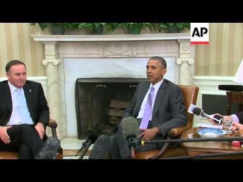 Speaking in the Oval Office with New Zealand Prime Minister John Key, President Obama said he hopes
