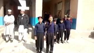 Morning Assembly of Govt Primary School Khan Mian Kalli Mardan