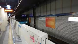 横浜市営地下鉄3000S形3601F 普通あざみ野行き 新横浜駅到着