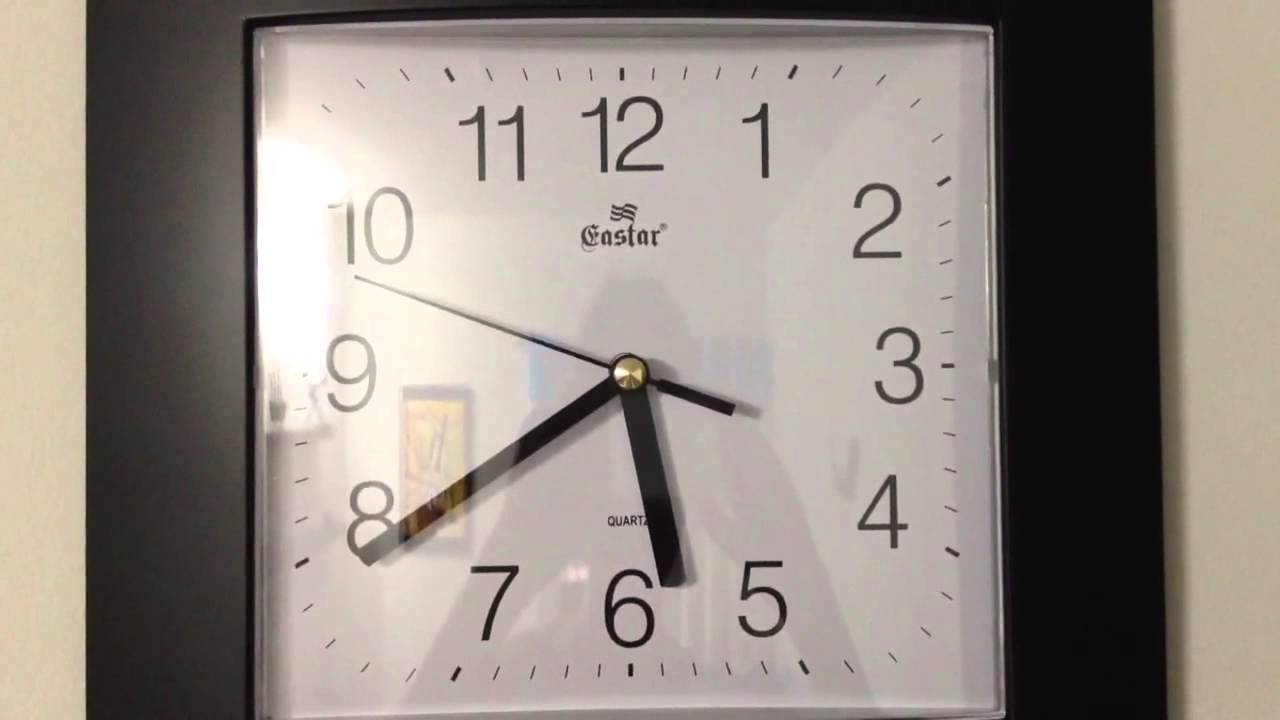smooth sweeping second hand clock youtube. Black Bedroom Furniture Sets. Home Design Ideas