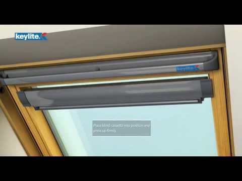 roof window blinds installation fitting guide youtube. Black Bedroom Furniture Sets. Home Design Ideas