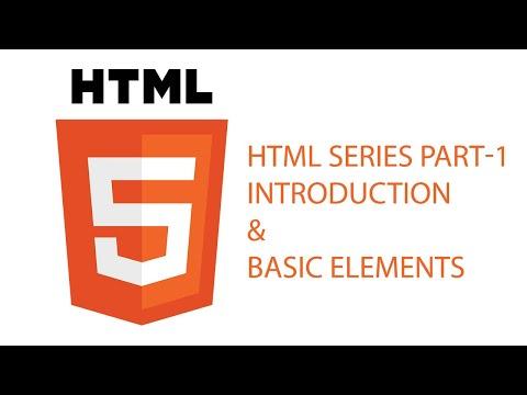 HTML Introduction & Basic Elements