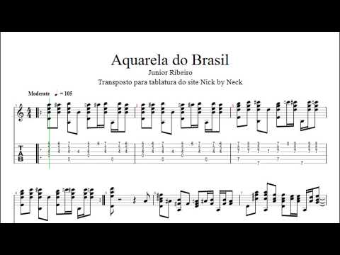 Aquarela Do Brasil Tablatura Youtube