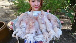 Yummy Squid Stuffed Pork Cooking - Squid Stuffed Pork - Cooking With Sros
