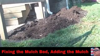 Fixing the Mulch Bed, Adding the Mulch