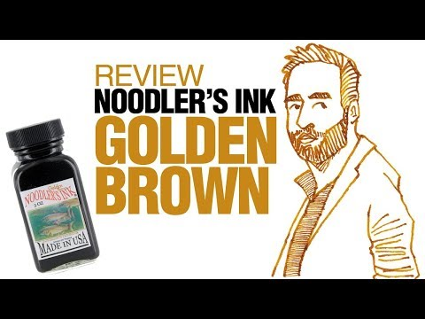 Review: Noodler's Golden Brown Ink (with short tutorial) (reupload)
