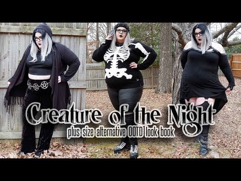 Creature of the Night 🦇 Plus Size Alternative OOTD Look Book!