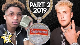 Download Top 5   YouTuber Chains ( Part 2 )   Jake Paul, DDG, Blazendary & more Mp3 and Videos