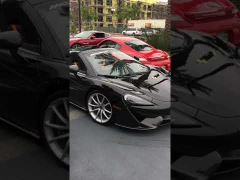 Mclaren leaving Cars and Coffee Huntington Beach