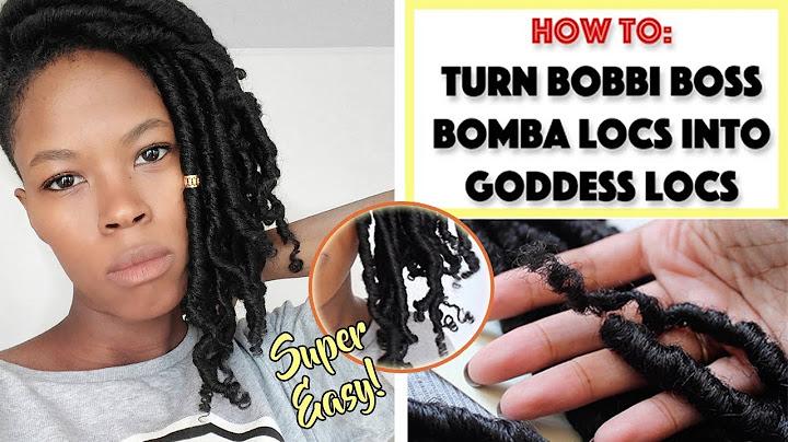 how to turn bobbi boss bomba locs into goddess locs