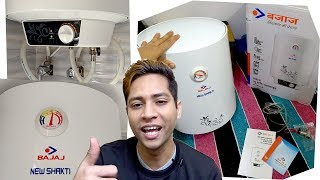 Bajaj New Shakti GL 15-Litre Water Heater Unboxing Review installation Test