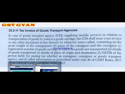 How to file GSTR 3B and GSTR 1 for GTA- Good Transport Agency
