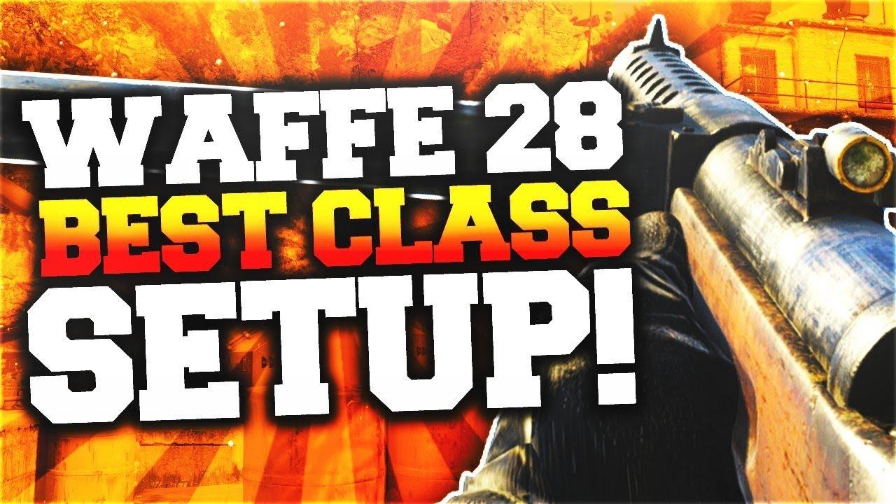 BEST WAFFE 28 CLASS SETUP! MAX FIRE RATE SMG SLAPS in COD WW2! Call of Duty WW2 Class Setups