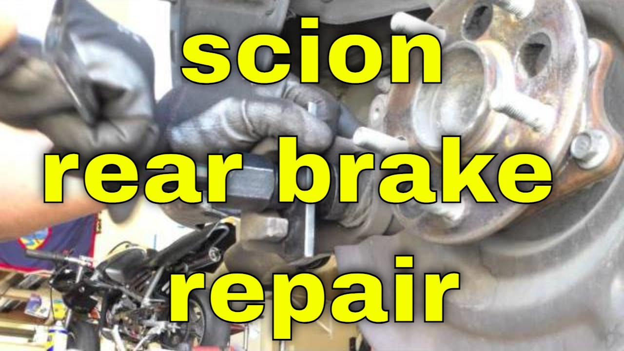 small resolution of simple rear brake pads rotors replacement scion xb fix it angel youtube
