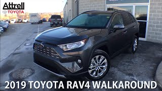 All New 2019 Toyota Rav4 Awd Limited Walkaround - Brampton On - Attrell Toyota