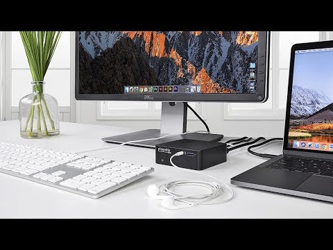 Plugable USB-C Mini Docking Station with 85W Power Delivery