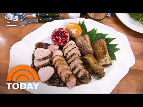 Lidia Bastianich's Pork Tenderloin With Balsamic Onions For The Holidays | TODAY