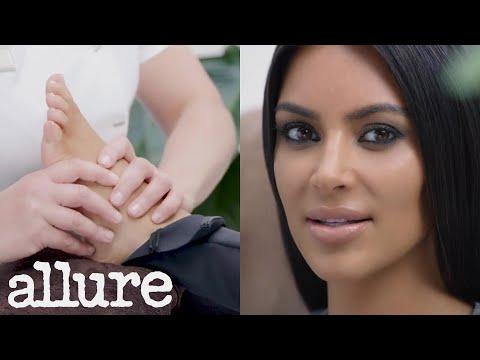 Kim Kardashian Gets a Foot Massage | Allure