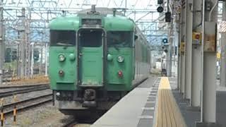 草津線普通列車・始発駅の草津駅を出発