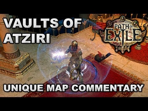 Path of Exile: Vaults of Atziri, Lvl 68 Unique Vaal Pyramid Map - Opening Chests with MartinCreek