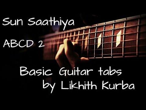 Sun saathiya ABCD 2 Guitar Tabs/Lesson By Likhith Kurba