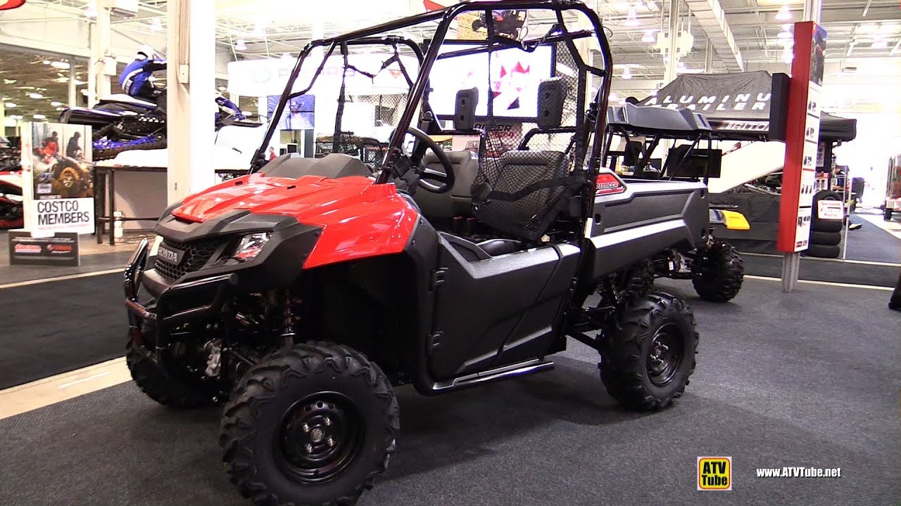 2016 honda pioneer 700 2 utility atv walkaround 2015 toronto snowmobile atv show youtube