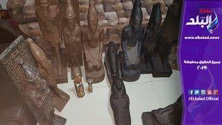 تماثيل وتابوت.. حكاية ضبط 21 قطعة أثرية بسوهاج .. فيديو