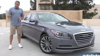2015 Hyundai Genesis 3.8 Test Drive Video Review смотреть