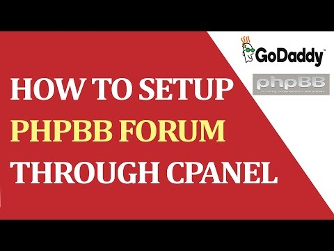 How to installed the PHPBB FORUM in the godaddy.com hosting?