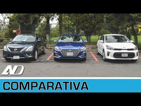 hyundai accent vs. kia rio vs. nissan versa - comparativa (ad) - youtube