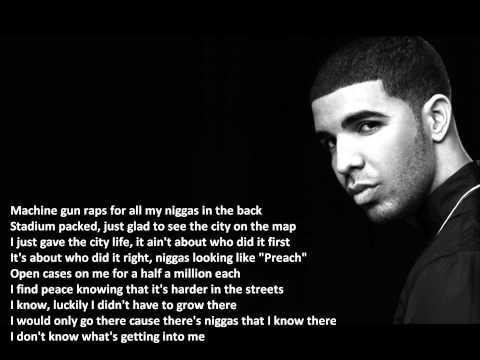 Drake - Wu Tang Forever, Lyrics on Screen