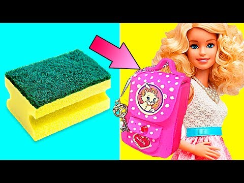 DIY Barbie Dresses   Making Easy Clothes and Barbie Doll Miniatures   Creative Fun For Kids