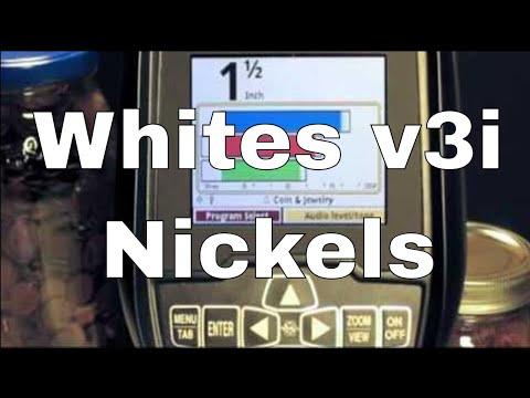 Whites V3i Metal Detector - Nickels Coins VDI Numbers