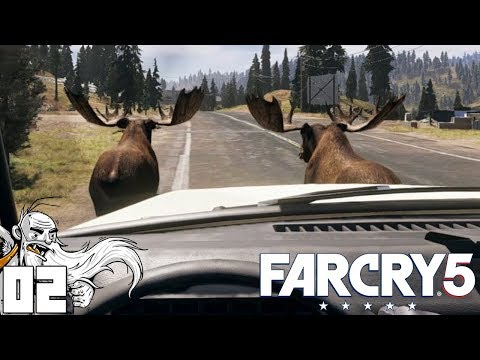 VEHICULAR MOOSE HUNTING!!! - Let's Play Far Cry 5 Gameplay