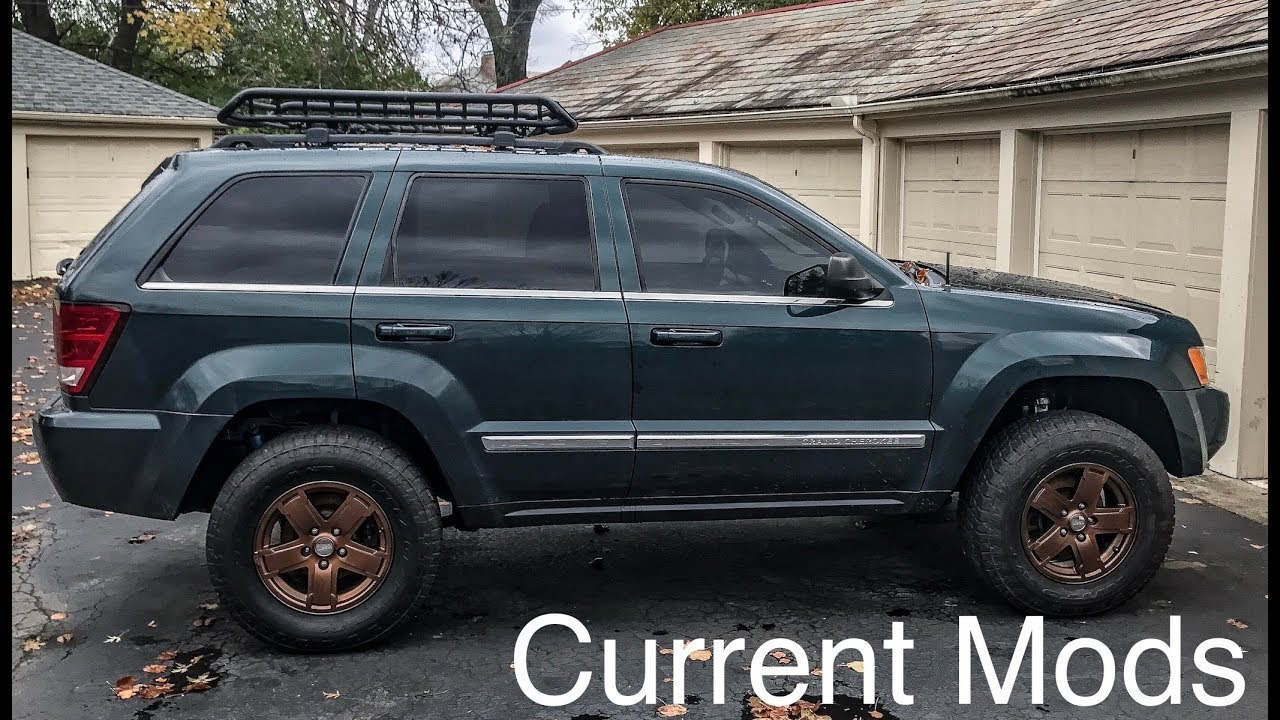 Current Mods My Lifted Jeep Grand Cherokee Wk 2005 Youtube