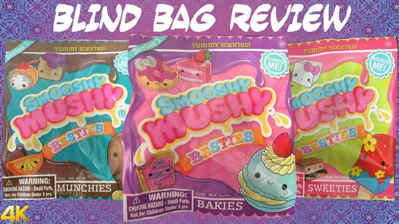 Smooshy Mushy Besties Blind Bags Series 1 Scented Squishy Review - YouTube