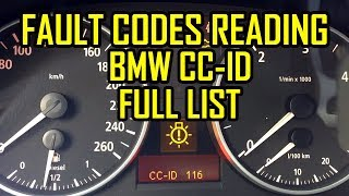 BMW CC-ID Reading Codes of Warning All Codes